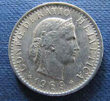 Schweizer Franken 1969 20 Rappen für Sammler aus Umlauf