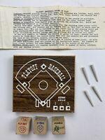 Vintage VTG Playoff Baseball Pegboard Game Crestline Wood Dice S3