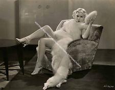 1920s-1940s ACTRESS MARY CARLISLE IN FUR UPSKIRT LEGGY 8x10 PHOTO A-MCAR1