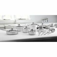 18-Piece Cookware Set Stainless Steel Mainstays Kitchen