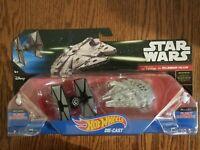 Disney HOT WHEELS Star Wars First Order Tie Fighter vs Millennium Falcon