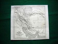 Gravure année 1860 carte de la Perse pour servir à l'intelligence du voyage
