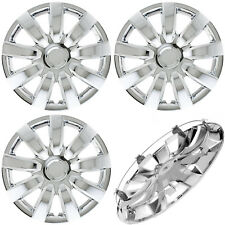 "SET of 4, 15"" CHROME Hub Caps (With Metal Clips) Wheel Covers Cap Cover"