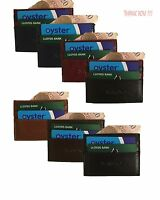 Men's Women Holder Synthetic Leather ID Oyster Card Money Slim Pocket Size