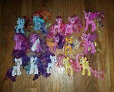 15 My Little Pony Lot G4 Tinsel Hair Sparkle Ponies Princess Cadence MLP Rarity