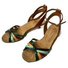 Isabel Marant Multicolor Pulse Ankle Wrap Sandals With Kitten Heel Size 36