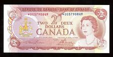 Bank of Canada $2, 1974 - Replacement Note - BC-47aA Uncircualted S/N:*UG5790849