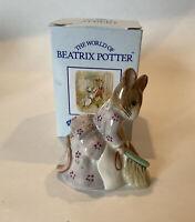 Vintage Beatrix Potter Royal Albert Hunca Munca Sweeping Figurine with Box 1989