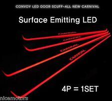 Morris Red LED Door Scuff Step Plate 4EA 1SET For KIA Sedona Carnival 2014 2015