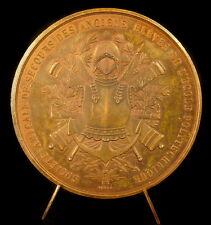 Médaille armes de l'école Polytechnique à Paul Brosselet 1881 Caqué défaut Medal