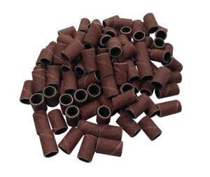 """100pc 1/4"""" 6.35Mm 180 Grit Drum Sanding Sleeves Wood, Metal, Nails, 4 Dremel etc"""