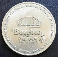 Bourbon Street Hotel & Casino $1 Gaming Token Las Vegas