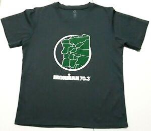 2016 Ironman 70.3 Timberman Triathlon Jersey Mens Small Greenlayer Gray T-Shirt