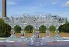 Saint Louis? Service de 6 coupes à champagne en cristal taillé. Début Xxe s.