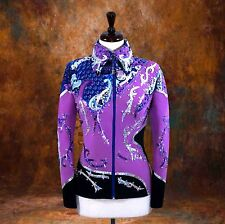 LARGE  Showmanship Pleasure Horsemanship Show Jacket Shirt Rodeo Queen Rail Top