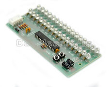 Dual Channel MCU Adjustable Display Pattern LED VU Meter Level Indicator 16LED