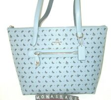 Coach 67364 Taylor Tote Bag Cornflower Blue With Navy Butterfly's  NWT $250