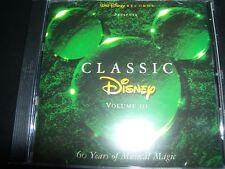 Classic Disney Volume III ( 3 ) Walt Disney Best Of Greatest Songs CD - Like New
