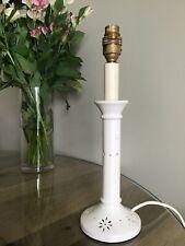 Laura Ashley Vintage Lámpara De Mesa Mesa Cerámica recargado Crema/Lámpara de cabecera