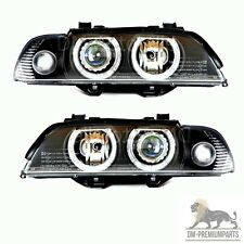 BMW E39 Xenon Scheinwerfer Set Schwarz D2S/H7 Facelift Hella Optik Angel Eyes