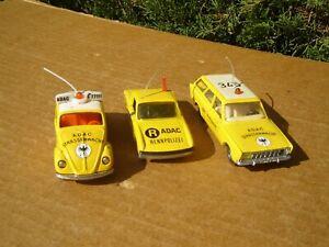 SIKU MODELL: LOT DE 3 MODELES ADAC: VW / PORSCHE / FORD