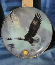 Alaska Chllkat Bald Eagle Plate, Proud & Free by Ted Blaylock with Coin