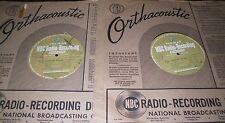 "16"" RADIO TRANSCRIPTION RECORD LOT OF 4 NBC RADIO Marine Band + Serenade in Blue"
