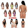 Sexy Womens One Piece Bodysuit High Cut Leotard Thong Backless Swimsuit Lingerie