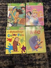 Lot Of 4 Leap Frog Tag Junior Books Curious George Toy Story Disney ABCs