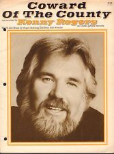 Kenny Rogers Lot Of 2 Sheet Music Coward Of The County 091317nonjhe
