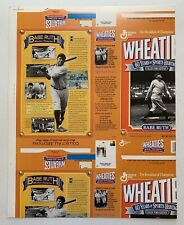 RARE! VINTAGE BABE RUTH WHEATIES BOX CARDBOARD POSTER WITH ERRORS! NEVER FOLDED