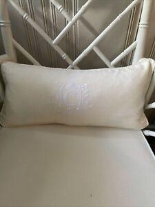 Custom Embroidered Linen Lumbar Pillow Cover