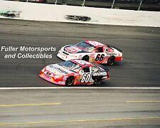 GREG BIFFLE #60 GRAINGER vs TIM FEDEWA #66 2001 NASCAR BUSCH SERIES 8X10 PHOTO