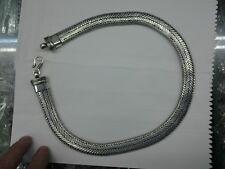 collana bagno argento indiano PIATTA 200 gr INDIAN SILVER snake necklace 49 CM