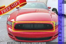 GTG 2013 2014 Ford Mustang V6 1PC Black Upper Replacement Mesh Grille Grill