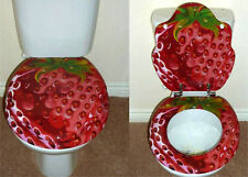 Designer Novelty Printed Toilet Seat -Strawberry Design