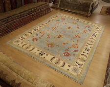 9 x 12 Handmade High Quality Veggie Dyes Fine Wool Afghan Ziegler Sturdy Rug
