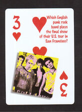 The Sex Pistols Punk Rock Sid Vicious Johnny Rotten Neat Playing Card #8Y7