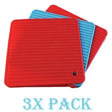 3 Pack Silicone Pot Holder & Trivet Heatproof Heat Resistant Mat Mitts Pack Mats