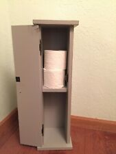 Primitive Toilet Paper Storage Cabinet for the Floor, Bathroom Storage, Toilet P