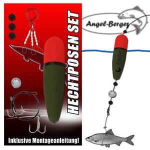 Angel Berger Hecht Posen Set 20g Köderfischmontage Ready2Fish Angelset Hecht