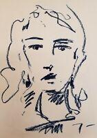 "JOSE TRUJILLO - Artist Original OIL PAINTING on Paper ABSTRACT Portrait 18x24"""