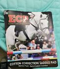 NWT Purple ECP Contoured Cotton Correction Saddle Pad with Memory Foam shims