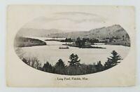 Postcard View of Long Pond Fiskdale Massachusetts 1913