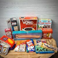 Vintage Children's boardgame Lot checkers, card, puzzles, dominos and more