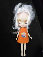 """4.3"""" Mini Neo Blythe Doll Nude Doll from Factory White Hair +Gift"""
