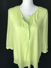 Stylus Woman Blouse Top Size Large Long Sleeve Shirt Striped
