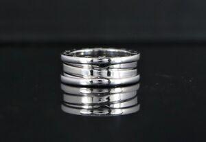 $2,100 Bvlgari Bulgari B.Zero1 18K White Gold 3 Band Ring #51 Size 5.75