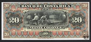 Costa Rica: 20 Colones 1901. (P-S175r). Choice Crisp Uncirculated