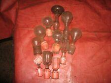 11 bouchons de carafe, verre et cristal.